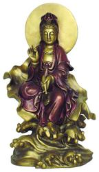 Kuan Yin SEATED ON LEAF